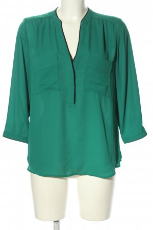 H&M Conscious Collection Schlupf-Bluse grün Business-Look