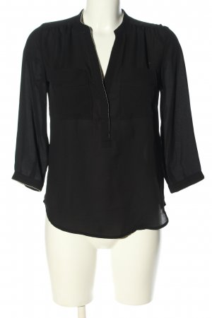 H&M Conscious Collection Schlupf-Bluse schwarz Casual-Look