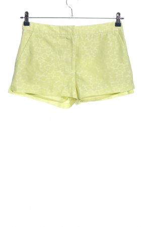 H&M Conscious Collection Shorts blassgelb-weiß Allover-Druck Casual-Look