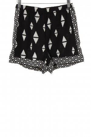 H&M Conscious Collection Shorts schwarz-weiß grafisches Muster