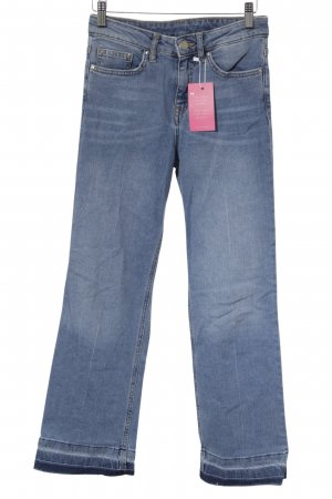 H&M Conscious Collection Slim Jeans stahlblau Farbverlauf Jeans-Optik