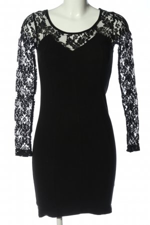 H&M Conscious Collection Spitzenkleid schwarz Casual-Look