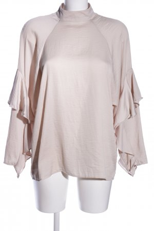 H&M Conscious Collection Stehkragenbluse creme Business-Look