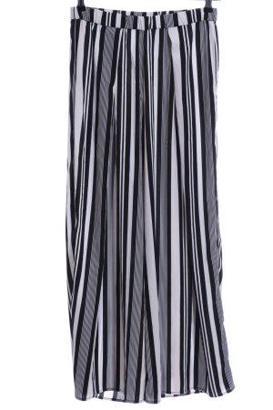 H&M Conscious Collection Stoffhose schwarz-weiß Streifenmuster Elegant