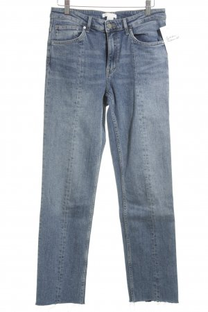 H&M Conscious Collection Straight-Leg Jeans blau Casual-Look