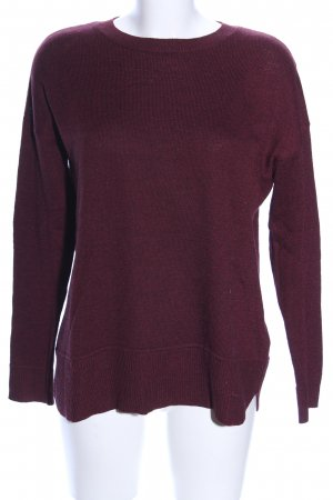 H&M Conscious Collection Strickpullover rot Business-Look