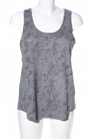 H&M Conscious Collection Tank Top light grey-black allover print athletic style