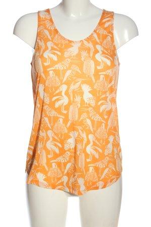 H&M Conscious Collection Camiseta sin mangas naranja claro-blanco look casual