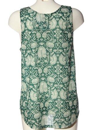 H&M Conscious Collection Trägertop grün-weiß abstraktes Muster Casual-Look