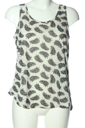 H&M Conscious Collection Trägertop weiß-schwarz Allover-Druck Casual-Look
