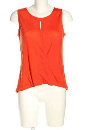 H&M Top cut out rojo lyocell