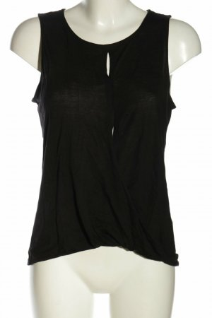 H&M Top cut out negro lyocell