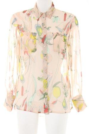H&M Conscious Collection Transparenz-Bluse creme-blassgelb Allover-Druck