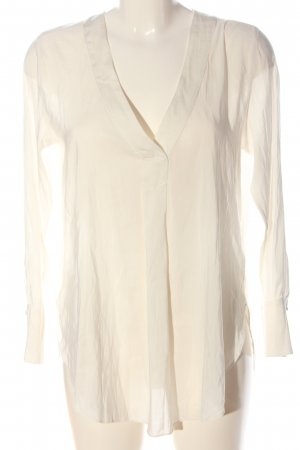 H&M Conscious Collection Transparenz-Bluse wollweiß Business-Look
