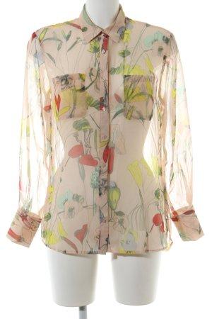 H&M Conscious Collection Transparenz-Bluse Allover-Druck Elegant