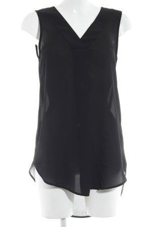 H&M Conscious Collection Transparenz-Bluse schwarz Elegant