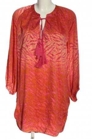 H&M Conscious Collection Tunikabluse pink-hellorange abstraktes Muster