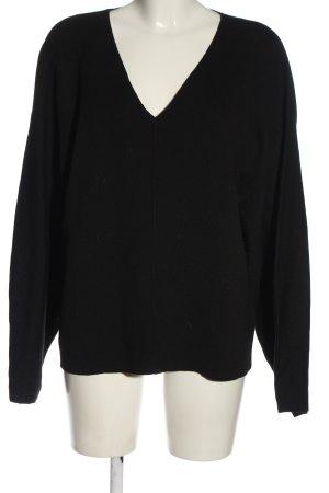 H&M Conscious Collection Maglione con scollo a V nero stile casual