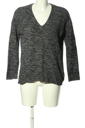 H&M Conscious Collection Maglione con scollo a V nero-bianco puntinato