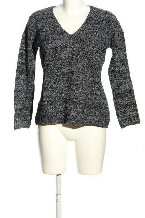 H&M Conscious Collection Maglione con scollo a V bianco-nero puntinato