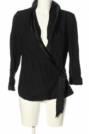H&M Conscious Collection Wraparound Jacket black casual look
