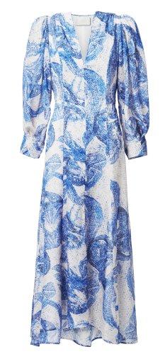 H&M Conscious Exclusive 2020 Midi Seiden Kleid Gr. 36