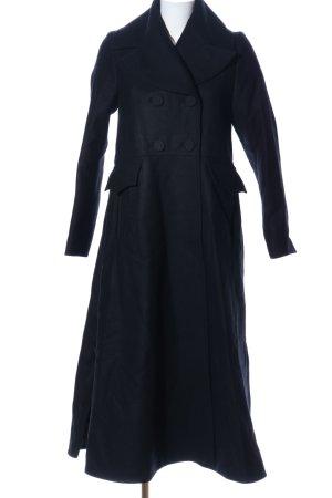 H&M Conscious Exclusive bodenlanger Mantel schwarz Casual-Look