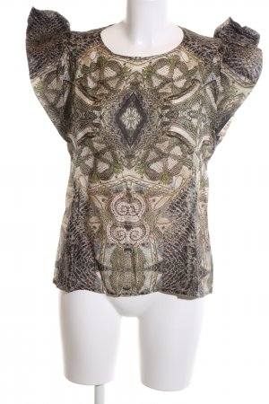 H&M Conscious Exclusive Kurzarm-Bluse abstraktes Muster Elegant
