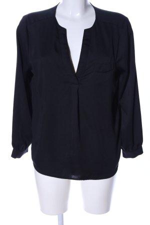 H&M Conscious Exclusive Langarm-Bluse schwarz Business-Look