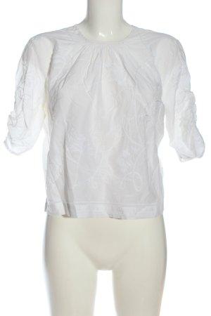 H&M Conscious Exclusive Schlupf-Bluse weiß Allover-Druck Casual-Look