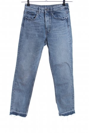 H&M Conscious Exclusive Straight-Leg Jeans blau Casual-Look