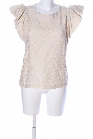 H&M Conscious Exclusive T-Shirt wollweiß Blumenmuster Elegant