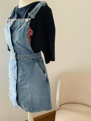 ~H&M~ Cooles Jeans-Mini-Latzkleid~ Gr. 34~ Top~ Einmal getragen~