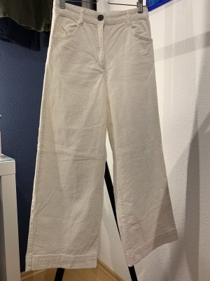 H&M Corduroy Trousers natural white
