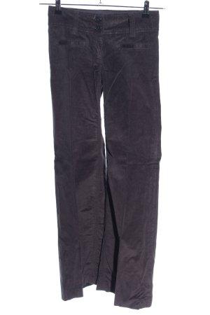 H&M Pantalon en velours côtelé gris clair style décontracté