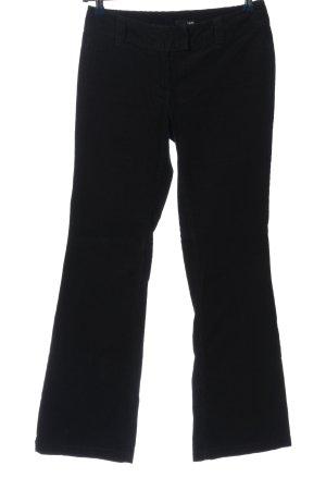 H&M Pantalone di velluto a coste nero stile casual