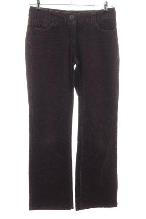 H&M Pantalon en velours côtelé brun style décontracté