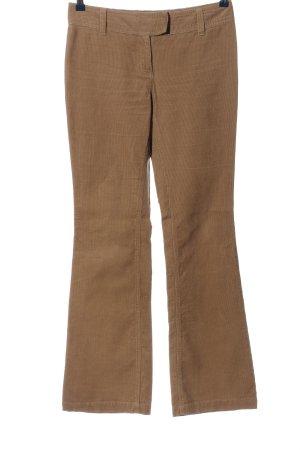 H&M Pantalone di velluto a coste marrone stile casual