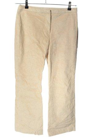 H&M Pantalón de pana crema look casual