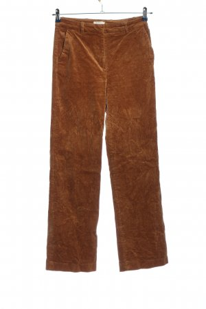 H&M Corduroy Trousers brown striped pattern casual look