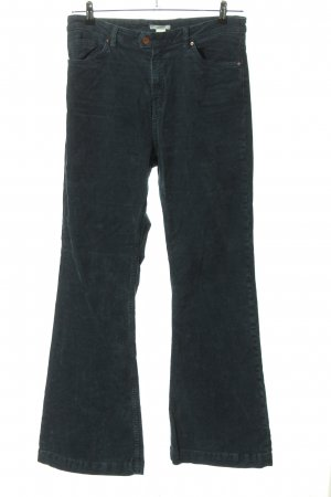 H&M Pantalone di velluto a coste blu stile casual