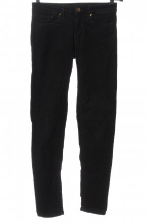 H&M Corduroy broek zwart casual uitstraling