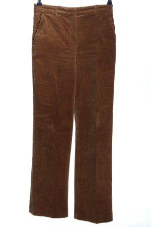 H&M Corduroy broek bruin gestreept patroon casual uitstraling