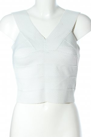 H&M Corsage Top white weave pattern elegant