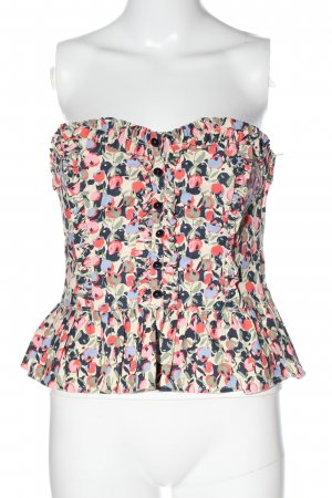 H&M Corsage Top abstract pattern casual look
