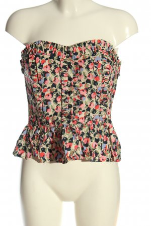 H&M Corsage Top abstract pattern elegant
