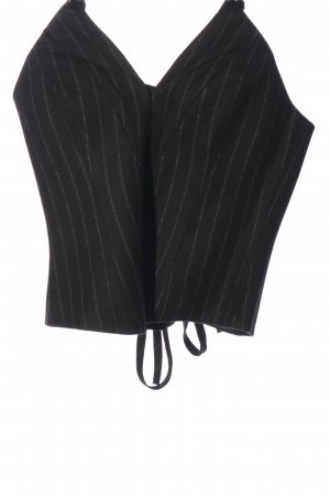 H&M Corsage Top black striped pattern casual look