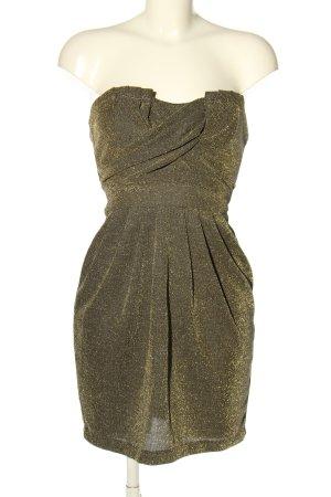 H&M Corsagenkleid braun-goldfarben Elegant