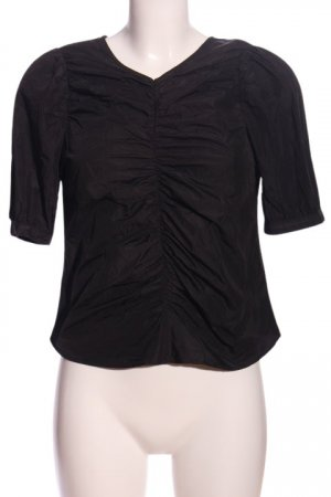 H&M Crash-Bluse schwarz Business-Look