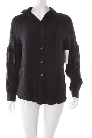 H&M Crash-Bluse schwarz schlichter Stil